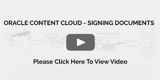 Oracle Content Cloud Specialists - Signing Documents - Ether Solutions