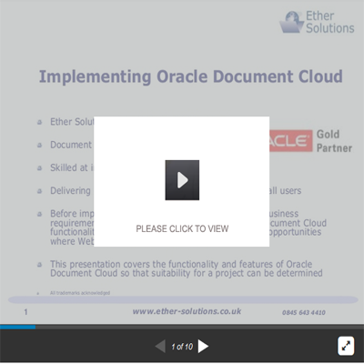 Implementing Oracle Document Cloud