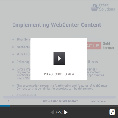 Implementing Oracle WebCenter Content