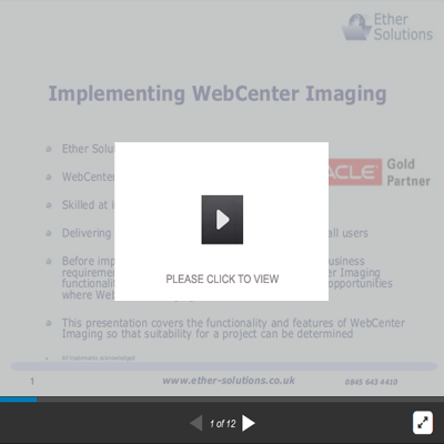 Implementing Oracle WebCenter Imaging