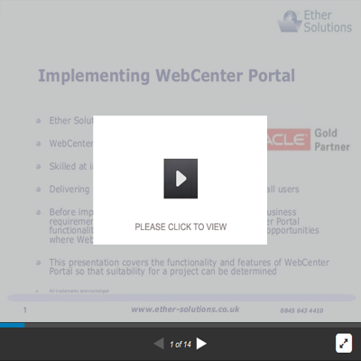 Implementing Oracle WebCenter Portal
