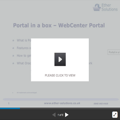 Portal In A Box - Oracle WebCenter Portal