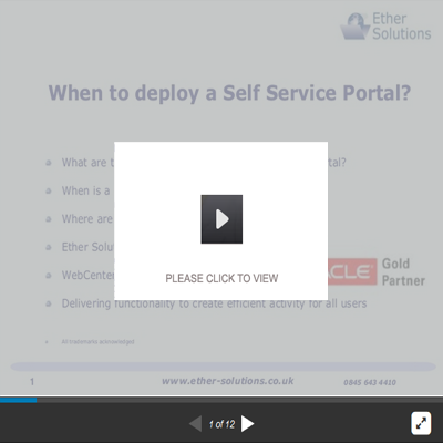 When To Deploy Self Service Portal