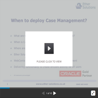 When To Deploy Case Management